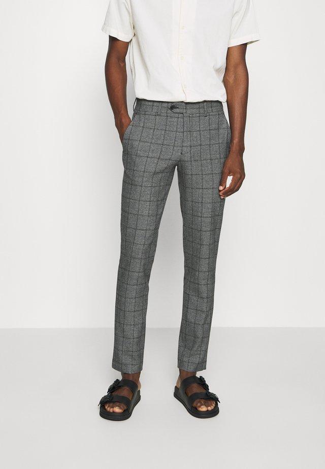 SLHSLIM CARLO COTFLEX PANTS - Trousers - dark grey/black