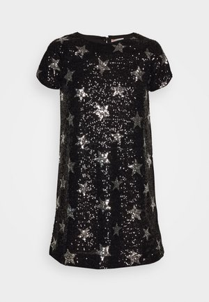 GINNY DRESS PRINTED - Cocktailkjole - silver/black