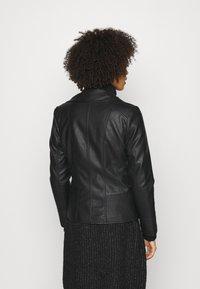Wallis - BIKER - Faux leather jacket - black - 3
