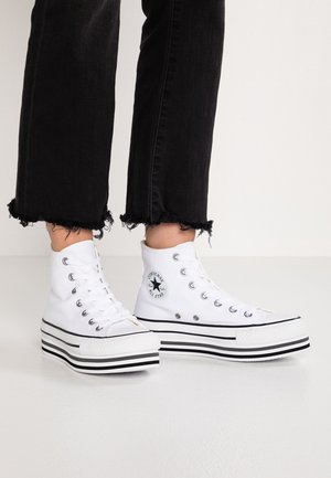 CHUCK TAYLOR ALL STAR PLATFORM - Sneakersy wysokie - white