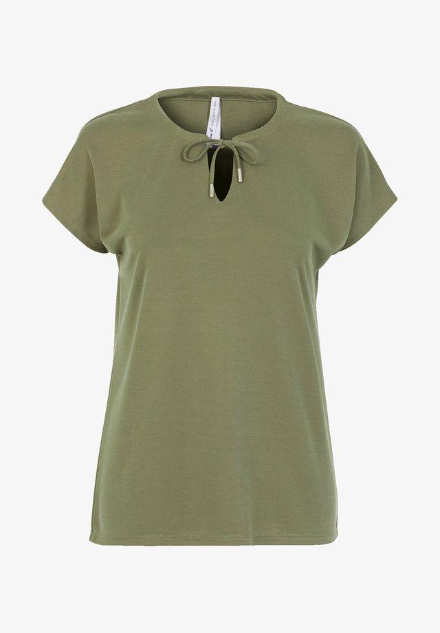 BLOSSY  - Basic T-shirt - light olive