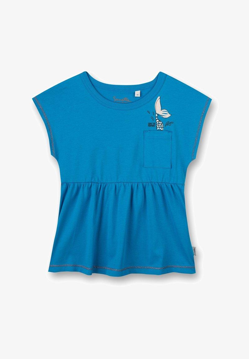 Sanetta Kidswear - KIDSWEAR - MERMAID - Print T-shirt - blau
