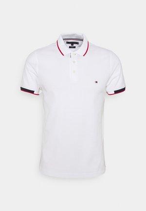 PLACKET DETAIL SLIM FIT - Polo shirt - white