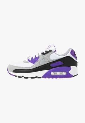 AIR MAX 90 - Sneaker low - white/particle grey/hyper grape/black/light smoke grey