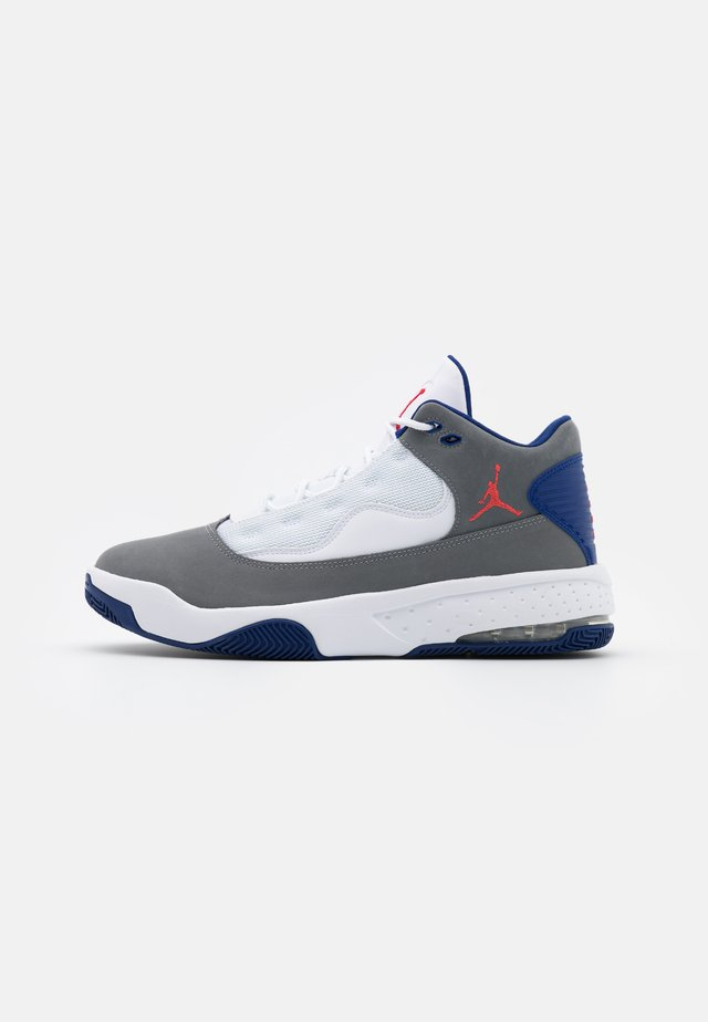 MAX AURA 2 - Sneakersy wysokie - smoke grey/track red/white/deep royal blue