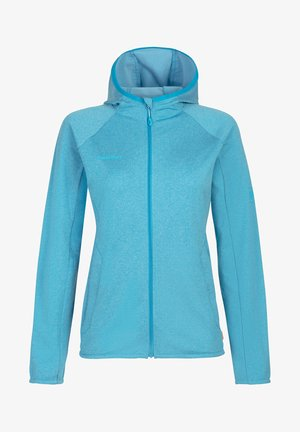 Zip-up hoodie - ocean melange