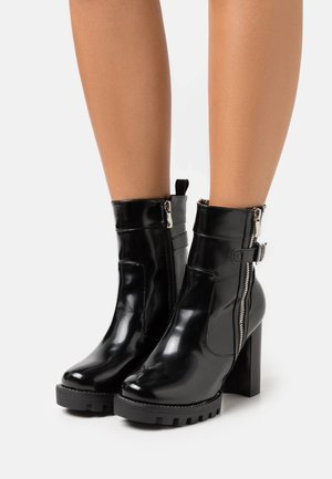 WIDE FIT LETICIA - High heeled ankle boots - black