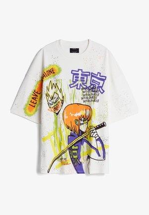 MIT KATANA-PRINT - T-Shirt print - stone