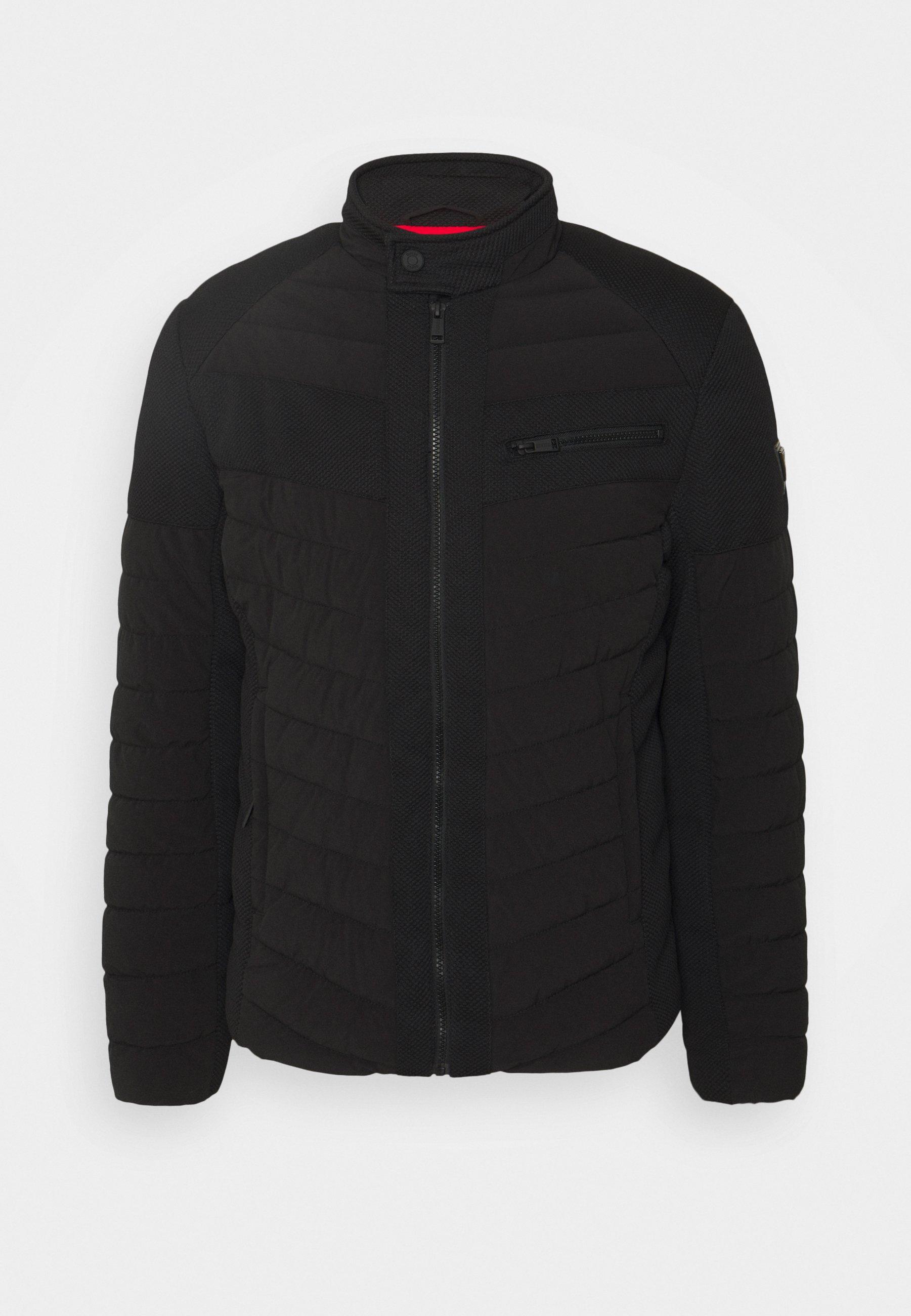 Men STRETCH MIXED BIKER - Light jacket