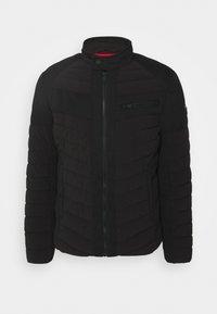 Guess - STRETCH MIXED BIKER - Light jacket - jet black - 0