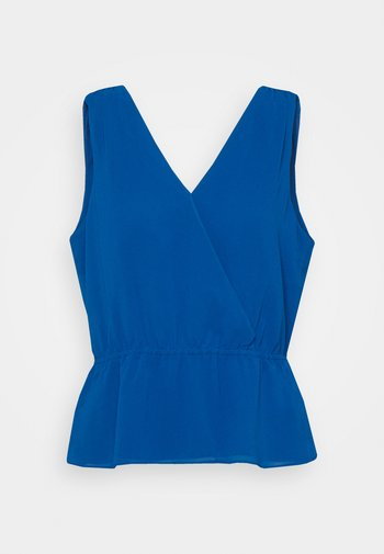 DOUBLE V NECK PEPLUM - Topper - shibori blue
