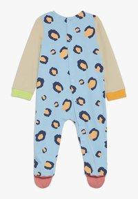 Lucy & Sam - RIBBON ROMPER LEOPARD PRINT BABY - Jumpsuit - light blue/off white - 1