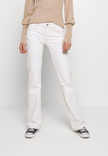 AUBREY - Straight leg jeans - white denim