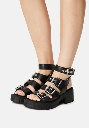 VEGAN RAJA - Platform sandals - black