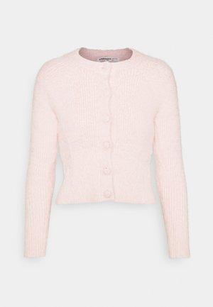 BUTTON-THROUGH CROP CARDIGAN - Cardigan - pale pink