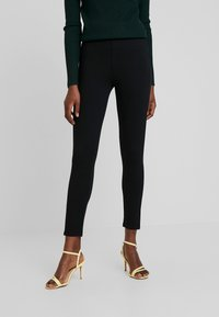 Marc O'Polo - PIPING AT SIDE SEAM - Leggings - Trousers - black - 0