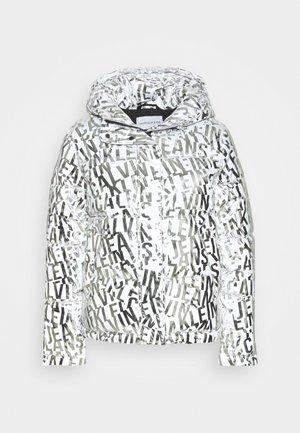 LOGO PUFFER - Zimní bunda - silver