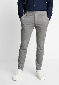 INDICODE JEANS - KOLDING - Spodnie materiałowe - grey mix - 0