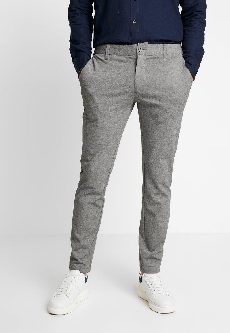 INDICODE JEANS - KOLDING - Spodnie materiałowe - grey mix
