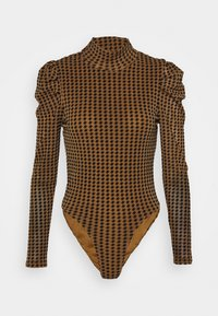 Fashion Union - TISHOW - Long sleeved top - pecan houndstooth - 5