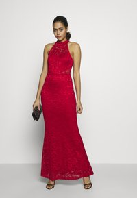 WAL G. - HALTER NECK MAXI DRESS - Iltapuku - red - 2