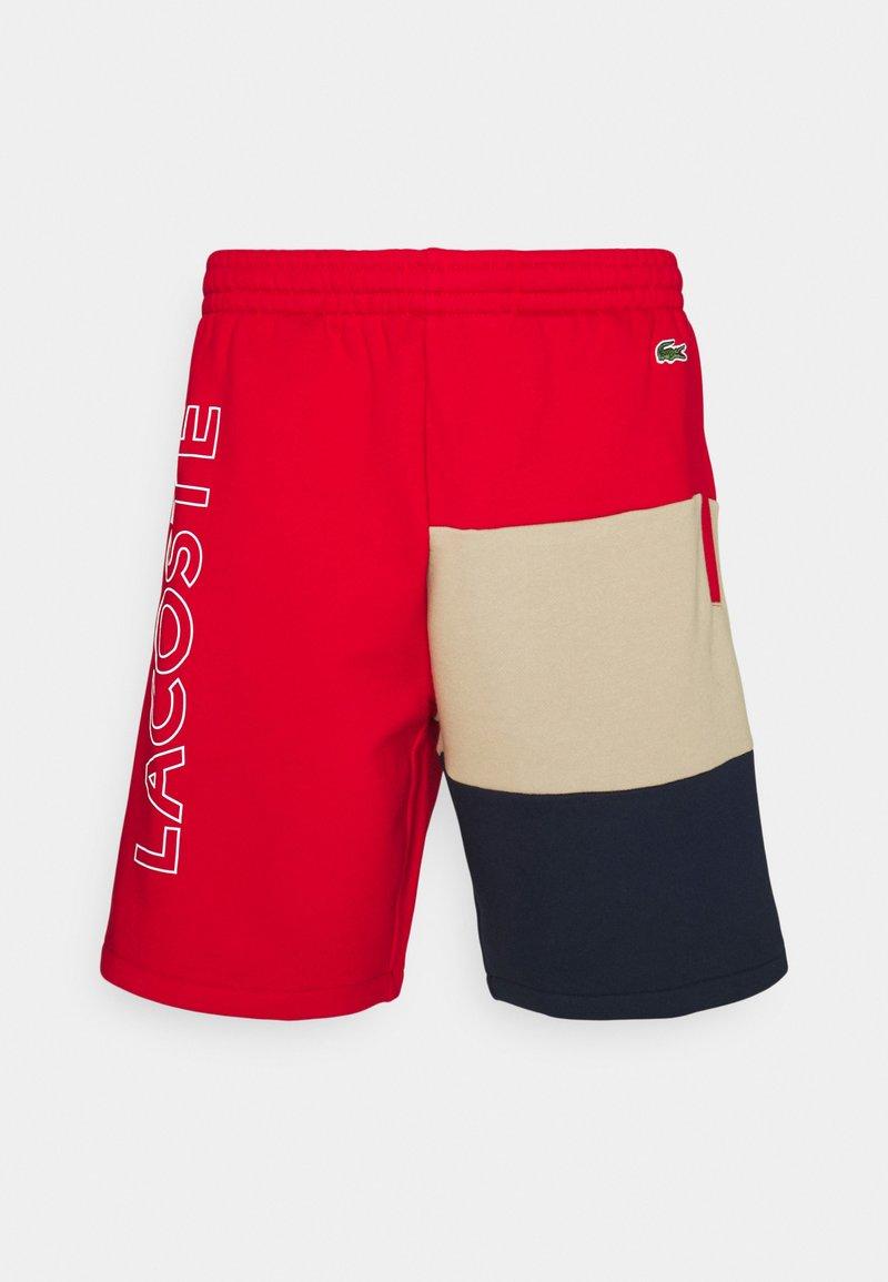 Lacoste - Shorts - rouge/viennois/marine