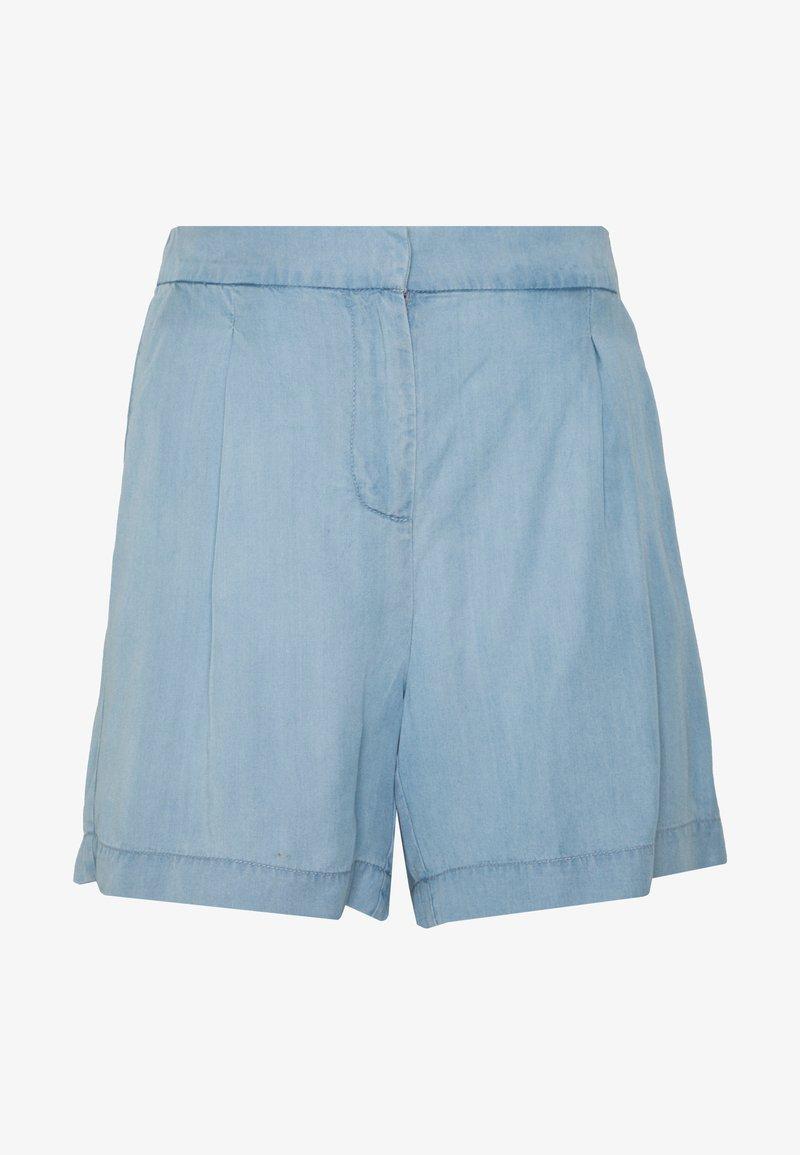 b.young - BYHARIMO SHORTS - Shorts - chambray blue