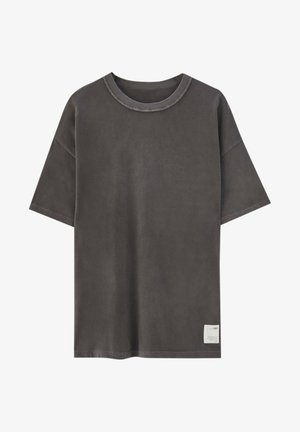 LOOSE-FIT - Basic T-shirt - mottled dark grey