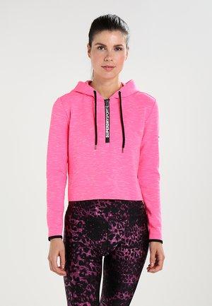 Hoodie - pop pink marl