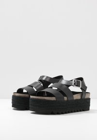 Even&Odd - LEATHER  - Espadrilles - black - 4