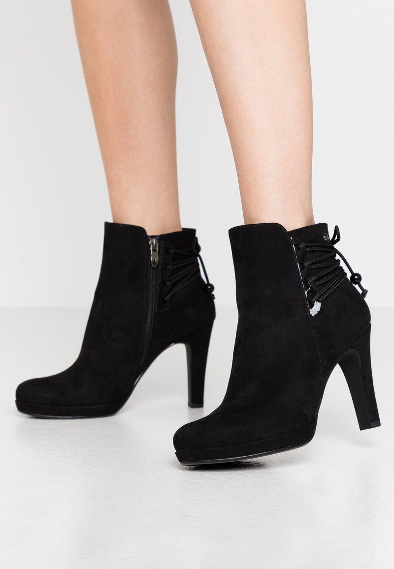 Tamaris - High heeled ankle boots - black
