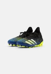 adidas Performance - PREDATOR FREAK .3 FG - Fotbollsskor fasta dobbar - core black/footwear white/solar yellow - 1