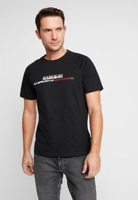 Napapijri - SASTIA  - T-Shirt print - black - 0