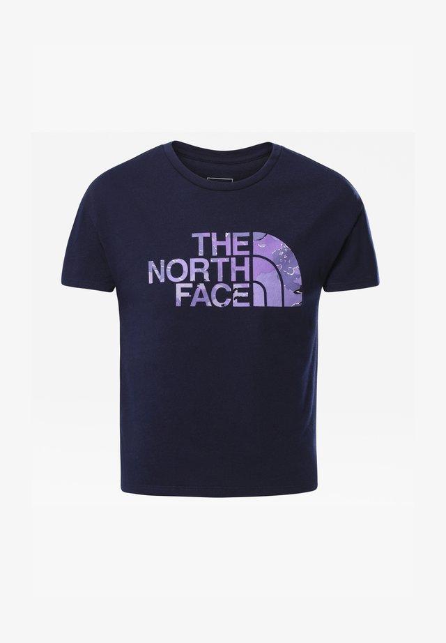 G S/S ON MOUNTAIN TEE - T-shirt z nadrukiem - tnf navy