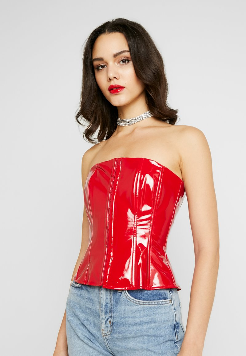 Missguided - CORSET BANDEAU - Topper - red