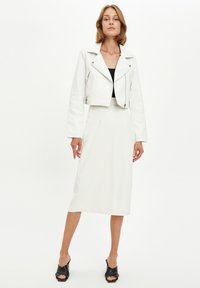 DeFacto - Faux leather jacket - white - 1