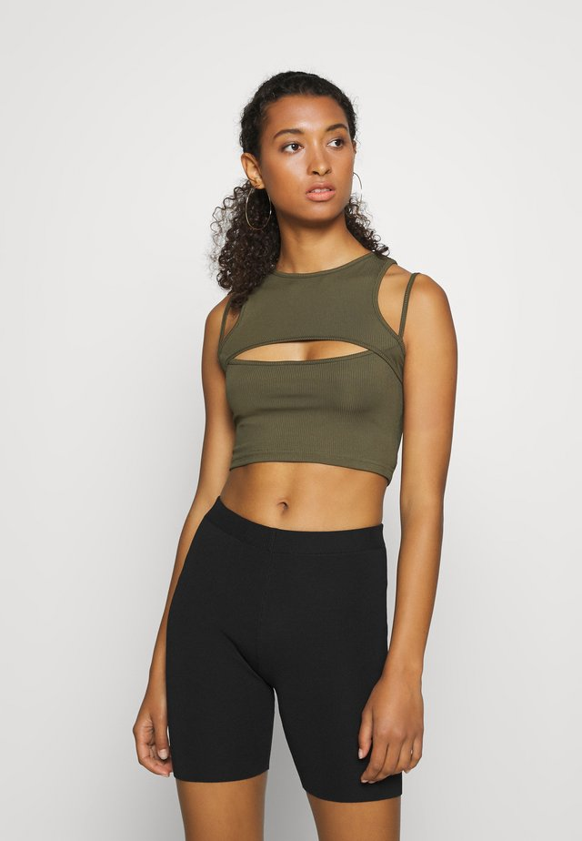 FIFI CROP - Top - khaki