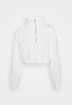 LONG SLEEVE CROP WITH HIGH NECK - Sweatshirt - cream