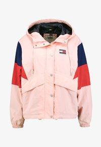 CONTRAST PANEL WINDBREAKER - Summer jacket - pink icing / black iris