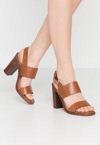 ALDO - FIELIA - High heeled sandals - cognac - 0