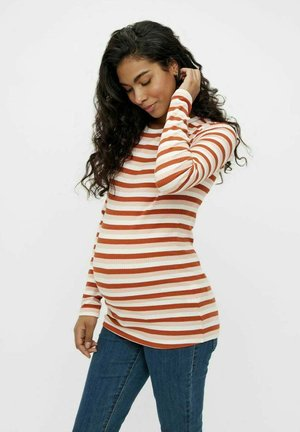 Long sleeved top - burnt ochre