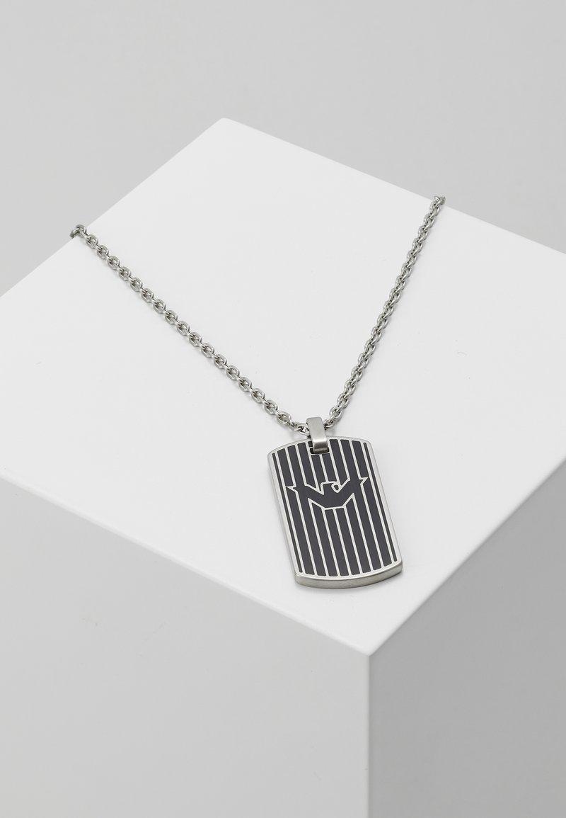 Emporio Armani - LOGO PLAY NECKLACE - Halskæder - silver-coloured