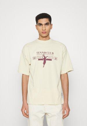 RACKET UNISEX  - T-shirt print - ecru