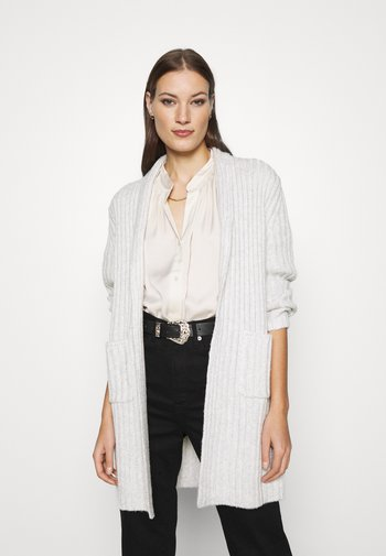 SHAWL COLLAR DUSTER SOLIDS FIGGY