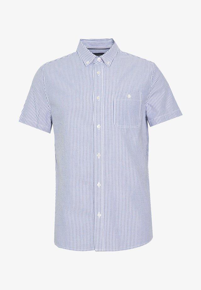 SHORT SLEEVE OXFORD STRIPE - Košile - blue