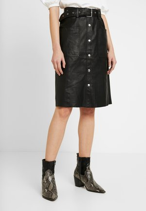 YASANDREA NAPPALON SKIRT - A-line skjørt - black
