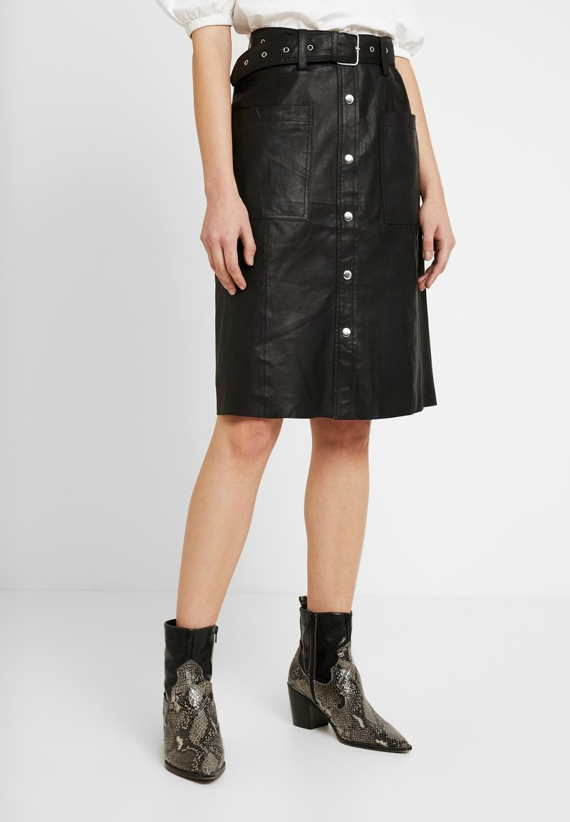 YAS - YASANDREA NAPPALON SKIRT - A-line skirt - black