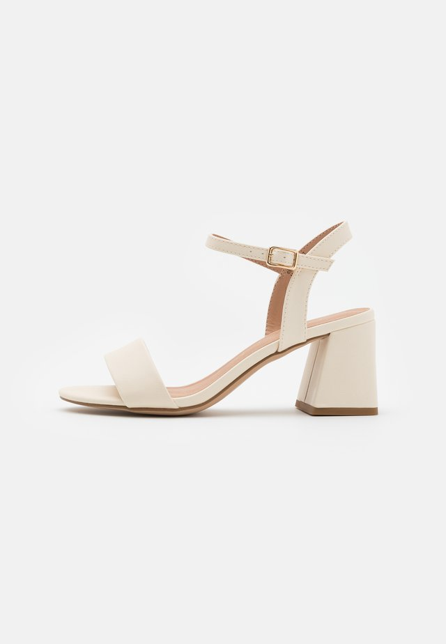 FLARE MID HEEL - Sandals - offwhite