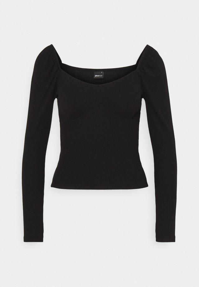 JENNIFER - T-shirt à manches longues - black