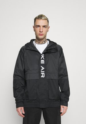 AIR  - Waterproof jacket - black/dark smoke grey/white